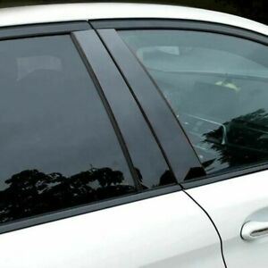 Door Pillar Trim Auto Glossy Parts Black Replacement Practical Durable