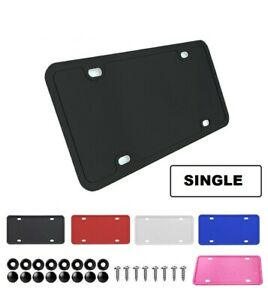 1x Silicone License Plate Frame With Installation Hardware Screws Amp Caps