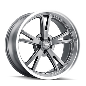 18 Inch 18x8 Ridler 606 Grey Wheels Rims 5x5 5x127 0