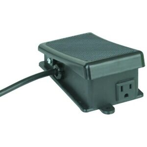 Electric Momentary Power Foot Switch Pedal Hands Free Operation