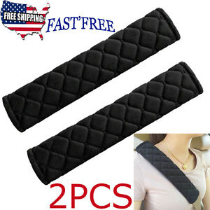 2pcs Car Safety Seat Belt Shoulder Pads Cover Cushion Harness Comfortable Pad Us