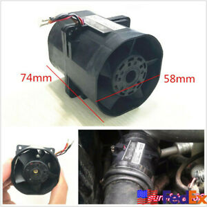 Ace60 3 2a Car Electric Turbine Turbo Double Fan Super Charger Boost Intake Fans