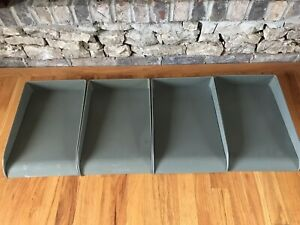 4 Vintage Steel Metal Office In out Box Organizer Desk Tray