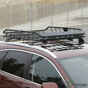 Topline For Cadillac Modular Roof Rack Basket Storage W fairing Matte Black
