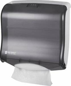 San Jamar T1755tbk Ultrafold Fusion Folded Towel Dispenser Fits 400 Multifold