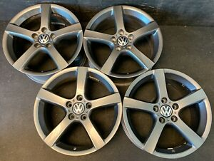 4 Vw Volkswagen Golf Jetta Rabbit Passat Audi Wheels Rims Caps 17