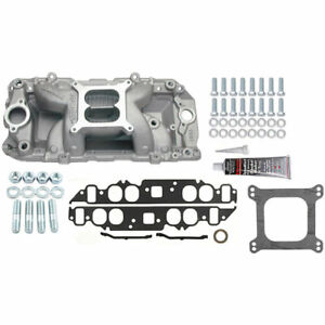 Edelbrock 7561k Rpm Air gap 2 o Intake Manifold Kit Big Block Chevy oval Port