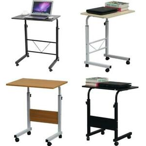 Laptop Cart 31 5 H Mobile Table Portable Adjustable Notebook Computer Stand Wit