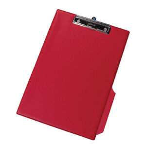 Red Pvc Clipboard Foolscap Fits A4 Documents With Pen Holder Kf01298