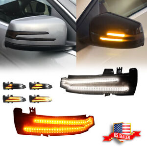 Sequential Amber Turn Signal Side Mirror Led Lights For Benz C E S Cla Cls Class