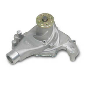 Weiand Water Pump 9240 Action Satin Aluminum Mechanical For Chevy 262 400 Sbc