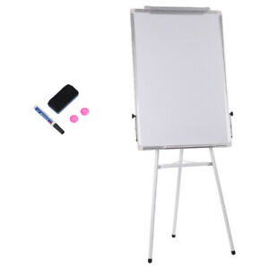 36x24 Single Side Magnetic Dry Erase Board Writing Whiteboard With Tripod Stand
