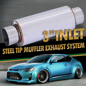 Vibrant 1142 2 5 Inch Ultra Quiet Resonator Exhaust System Car Muffler Us