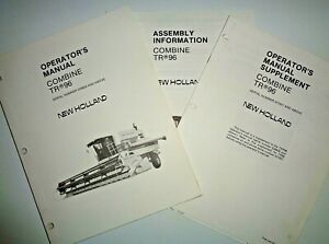 New Holland Tr96 Combine Operators Assembly Manual Oem 5 86 s n 526626 Up