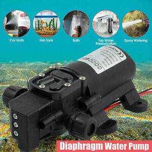 130psi High Pressure Water Pump Dc 12v Max Self priming Automatic Switch 70w New