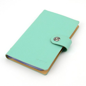 Business Pu Leather Cards Organizer Book 240 Cell blue