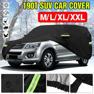 190t Suv Car Cover Waterproof Sun Uv Snow Dust Rain Resistant Protection Outdoor Fits 1968 Mustang