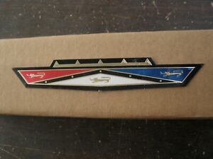New Repro Ford 1963 Galaxie 500 Grille Ornament Foil Emblem Insert Logo Badge