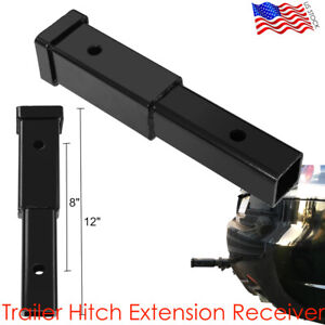 12 Trailer Hitch Extension Receiver Tube Extenders Rack 8 Hitch Extension New