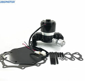 Small Block Ford Electric Water Pump 351c Sbf High Volume Flow With Plate Black