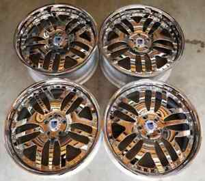 Asanti Af 115 Forged Wheels Rims 20 Inch 5x112 Staggered 45mm Chrome