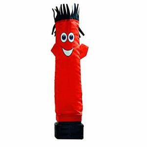 Mini Air Dancer Inflatable Tube Man Set Waving Action Blower Fan Power Cable Red
