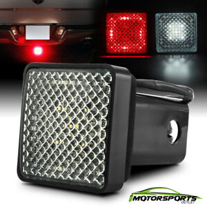 W Running Brake Reverse Red White Led Towing Hitch Cover Light For 2 Receiver