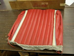 Nos Oem Ford 1962 Galaxie 500 Convertible Red Front Seat Cover Drivers Back