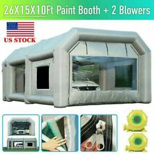 26x15x10ft Inflatable Spray Booth Paint Tent Mobile Portable Car Workstation Aaa