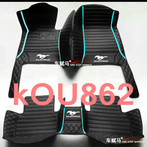 For 1995 2021 Ford Mustang All Models Color Stitching Car Floor Mats