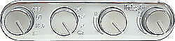 Vintage Air Streamline 4 Knob Control Panel 491200 rua