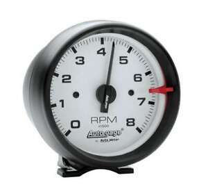 Autometer 3 3 4in White Face Tach Black Cup 2303