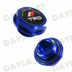 Trd Engine Oil Filler Cap Billet Blue For Toyota Camry Corolla Sienna Celica X1