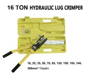 16 Ton Hydraulic Wire Battery Cable Lug Terminal Crimper Crimping Tool