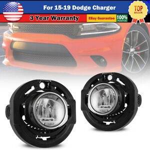 Led Fog Lights For 15 19 Dodge Charger 14 16 Jeep Grand Cherokee Lamp Clear L R