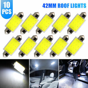 2x H7 Cob Led Headlight Bulbs Kit High Low Beam 6000lm Super Bright 6000k White