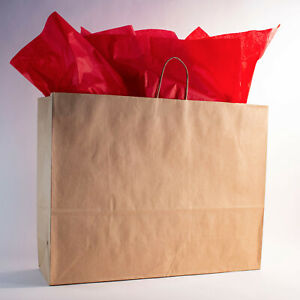 Extra Large jumbo 24x7x18 Kraft Shopping Bags W Rope Handle