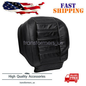 For 2003 2007 Hummer H2 Awd Driver Side Bottom Leather Seat Cover Black