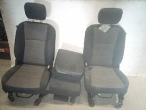 2012 Dodge Ram 1500 Front Cloth Seats Center Console Jump Seat Manual 6954234