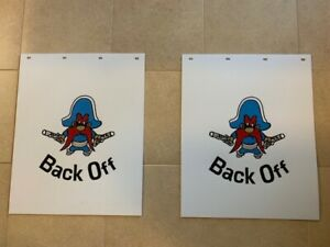 Back Off mud Flaps 24 x 30 White Pair Heavy Duty Poly
