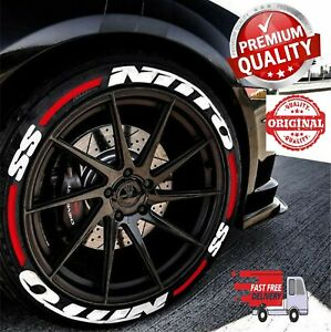 Tire Lettering Nitto Ss Stripes Permanent Stickers 16 22 Decal 4tires Set 1 25