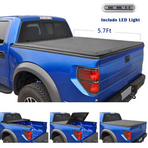 Tri Fold Tonneau Cover For 2009 18 Ram 1500 10 18 Ram 2500 3500 5 7ft Short Bed