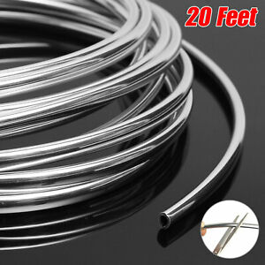 20ft 6m Sliver Chrome Car Door Edge Guard Molding Trim Protector Strip U Shape