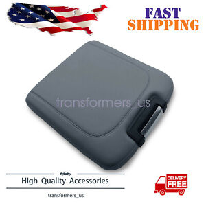 For 2013 2018 Dodge Ram Leather Center Console Lid Armrest Jump Seat Cover Gray