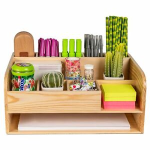 Pine Desk And File Organizer For Home Office School