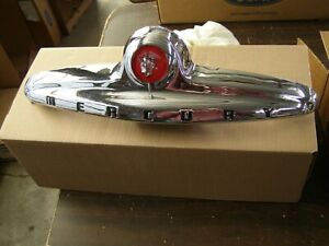 Nos Oem Ford 1949 Mercury Trunk Ornament Emblem Deck Lid Trim Handle Nice
