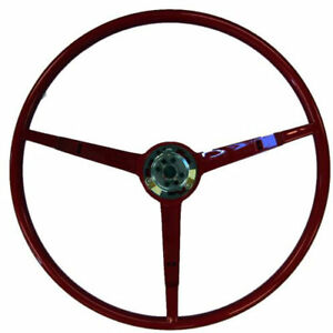 Golden Star Wl20 66r Steering Wheel 1966 Ford Mustang Dark Red Finish