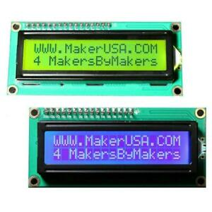 2 Pack 1602 Lcd 16x2 Hd44780 Character I2c Serial Interface Module Blue Green