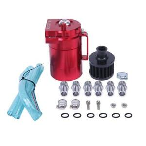 High Quality Oil Catch Reservoir Breather Can Tank Filter Kit Cylinder Red