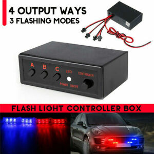 8 Ways Led Strobe Flash Light Lamp Emergency Flasher Flashing Controller Box 12v